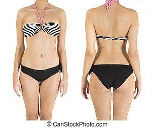 Young woman in bikini