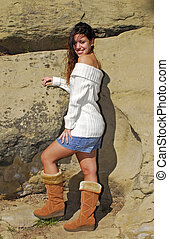 Young Woman in Boots