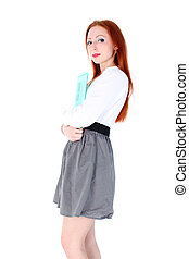 Young woman in business outfit
