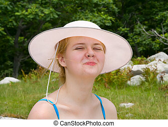 Young Woman in Hat 1