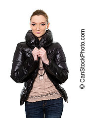 young woman in jeans and jacket