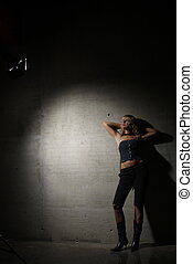 young woman in light