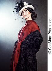 Young woman in retro syle