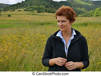 Young woman in the nature