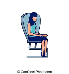 young woman in the office chair