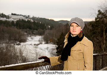 Young Woman in the winter