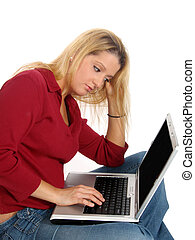 Young Woman Laptop