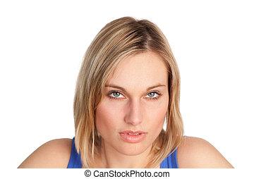 Young woman looking at the camera