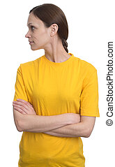 woman looking sideways