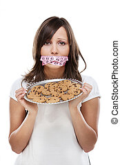 Young woman on a diet