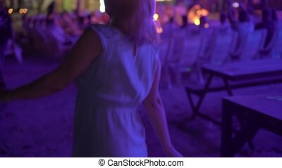 Young woman on party dancing
