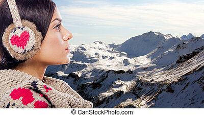 Young woman on the mountain