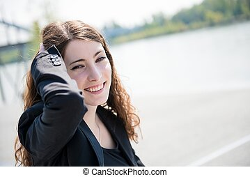 Young woman - outdoor portrait