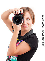 Young woman photographer