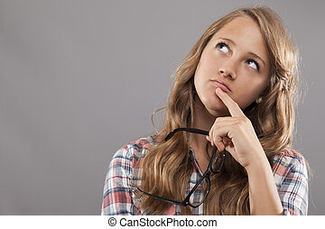 Young Woman Pondering