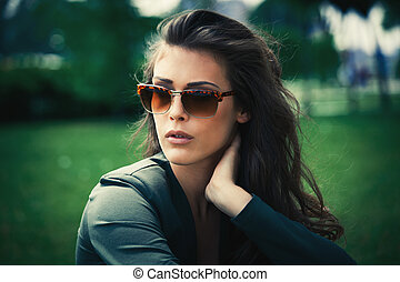 portrait with sunglasses