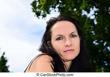 Young woman posing in the sun