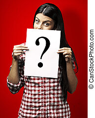 young woman question