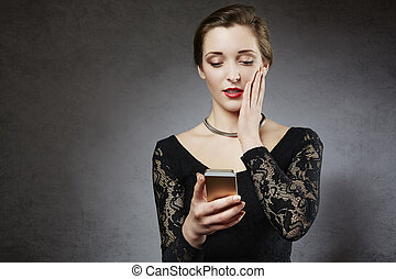 Young woman receiving bad news