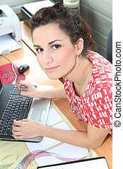 Young woman receptionist