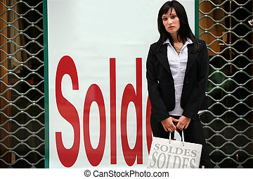 young woman sales shopping