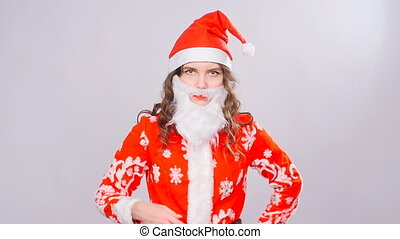 Young woman Santa Claus