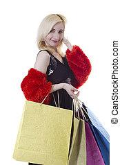 Young woman shopaholic
