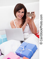 Young Woman Shopping Online