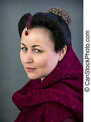 hairstyle of Spanish Mannerism - Young woman showing...