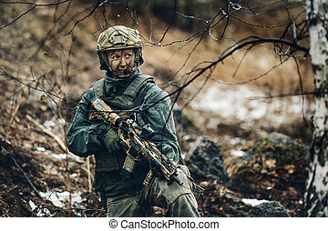 woman soldier member of ranger squad