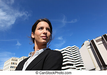 Young woman student in law