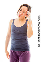 Young woman suffering from headache