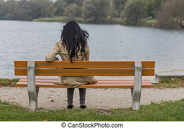 young woman, thoughtful