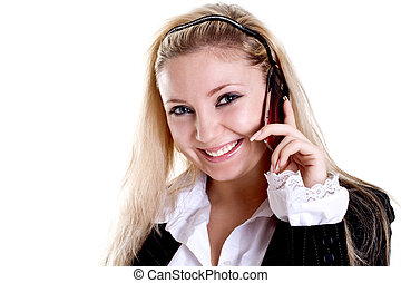 young woman using cellphone