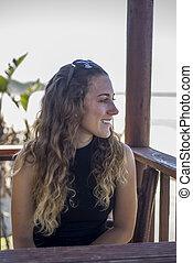 Young Woman Viewing Ocean