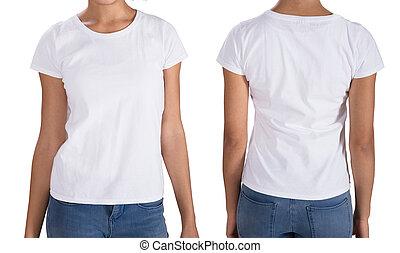 Young Woman Wearing T-Shirt