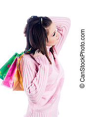 Young woman with bag