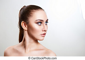 Young woman with beautiful make-up.