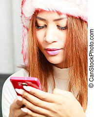Young woman with cell phone.