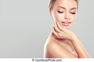 Young Woman with clean, fresh, skin.