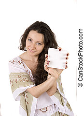 Young woman with tablet in her hands