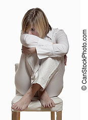 young woman with the burnout syndrome