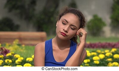 Young Woman Wondering And Thinking
