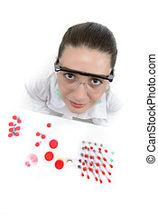 Young Woman working in a laboratory