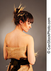 young woman worth a back - Beautiful young woman worth a...