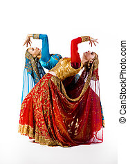young women dance indian dance