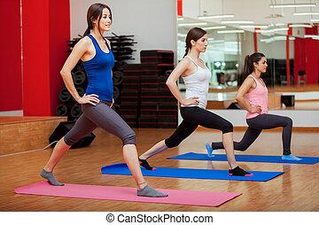 Young women doing some cardio