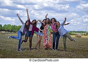 Young women enjoying life.