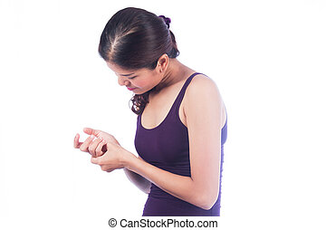 young women hand pain