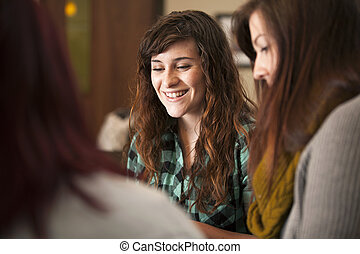 Young Women in Meeting